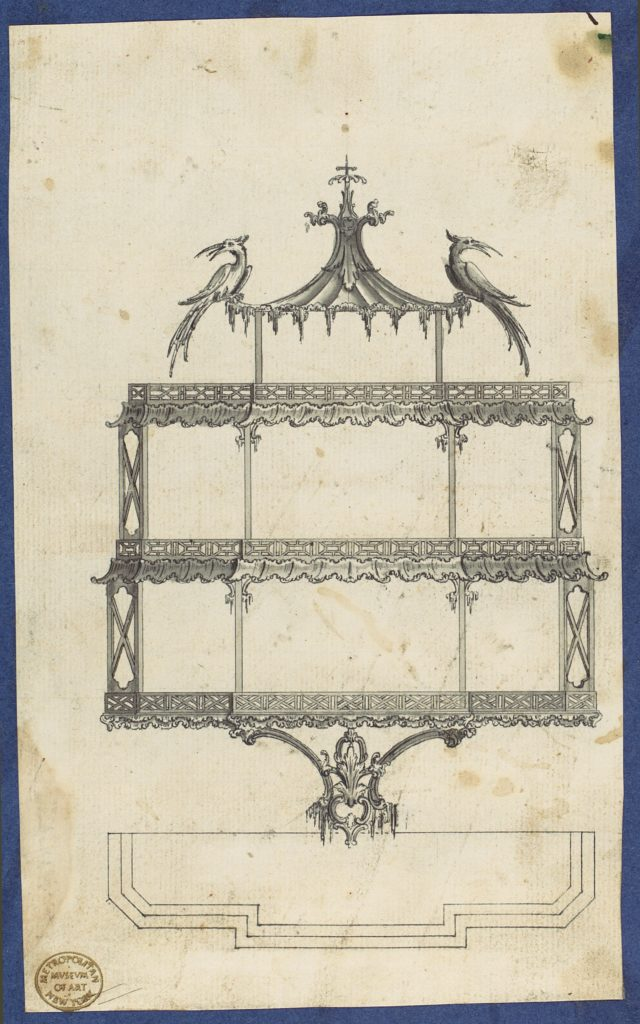 Hanging Shelves, from Chippendale Drawings, Vol. II