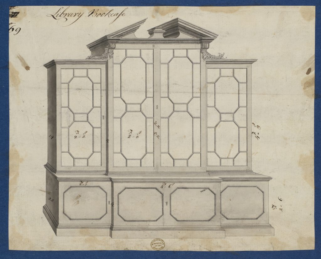 Library Bookcase, from Chippendale Drawings, Vol. II