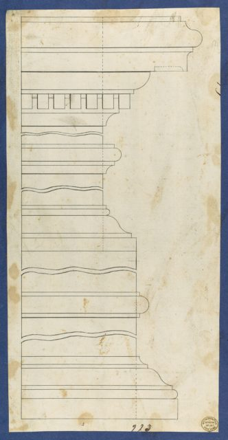 Moldings for Desk and Bookcase, from Chippendale Drawings, Vol. II