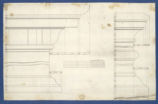 Moldings for Library Bookcase, from Chippendale Drawings, Vol. II