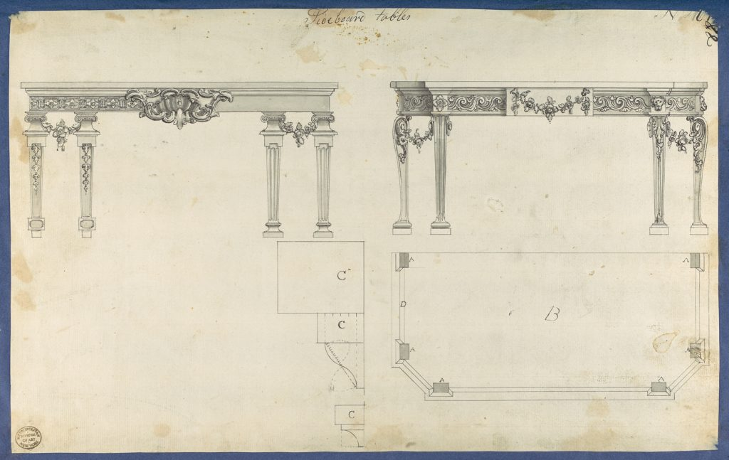 Sideboard Tables, from Chippendale Drawings, Vol. II