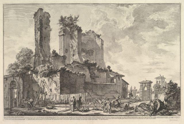 The Fontana dell'Aqua Giulia (Vedute dell avanzo del Castello del'Aqua Giulia)
