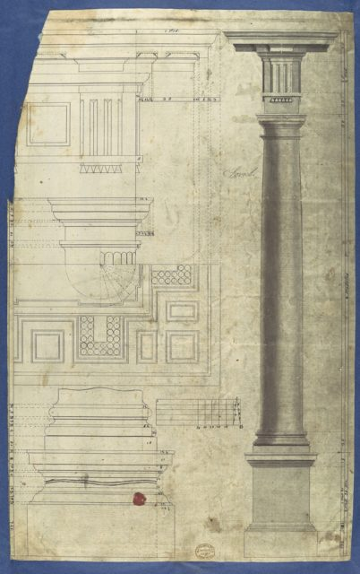 The General Proportion of the Doric Order, in Chippendale Drawings, Vol. I