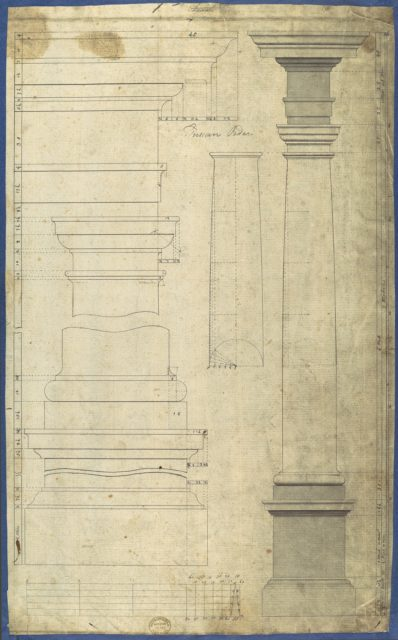 The General Proportion of the Tuscan Order, in Chippendale Drawings, Vol. I