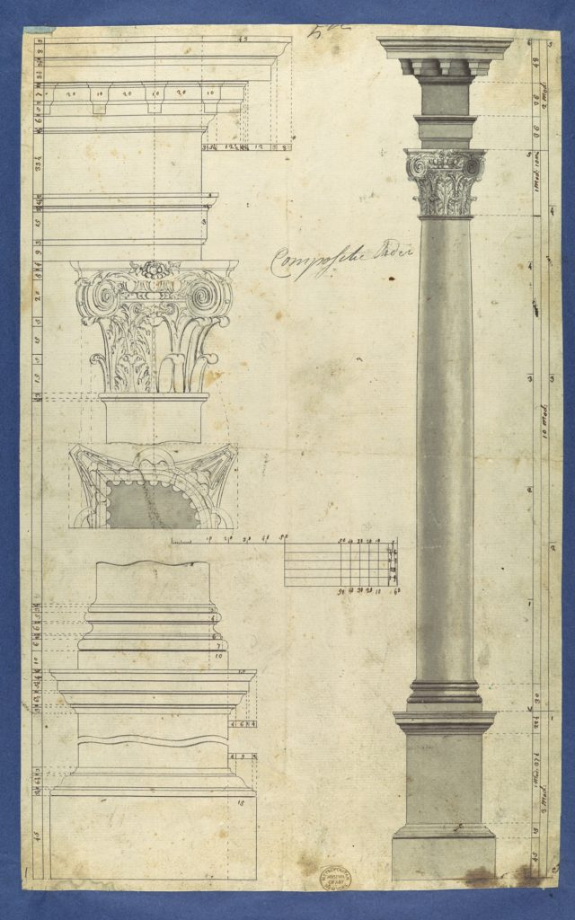 The General Proportions of the Composite Order, in Chippendale Drawings, Vol. I
