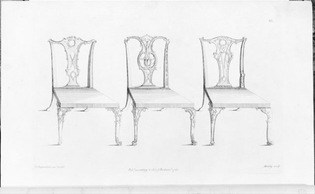 The Gentleman and Cabinet-Maker's Director.  Being a Large Collection of the Most Elegant and Useful Designs of Household Furniture in the Gothic, Chinese and Modern Taste