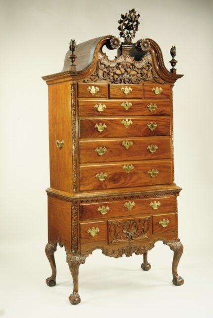 High chest of drawers