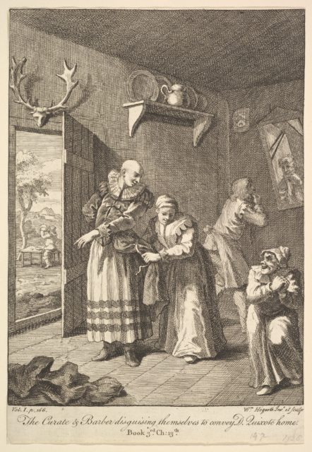 The Curate and Barber Disguising Themselves to Convey Don Quixote Home (Six Illustrations for Don Quixote)