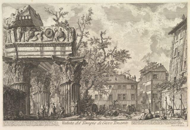 The Temple of Vespasian and Titus (Veduta del Tempio di Giove Tonante)