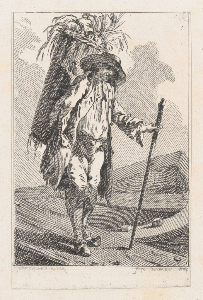 Peasant with Staff and Basket