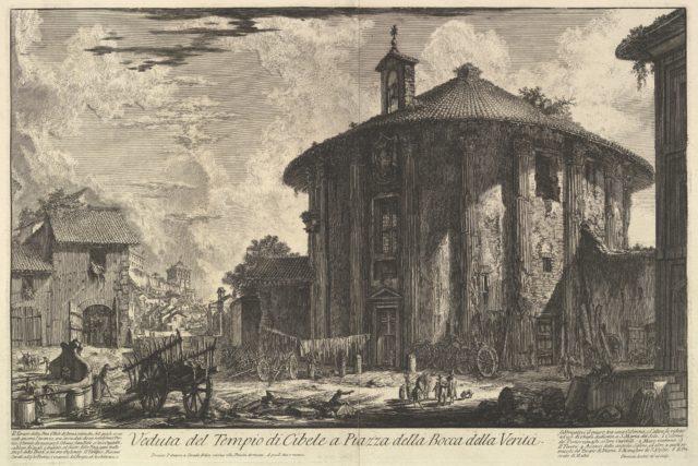 View of the Temple of Cybele in the Piazza of the Bocca della Verità (Veduta del Tempio di Cibele a Piazza della Bocca della Verità)