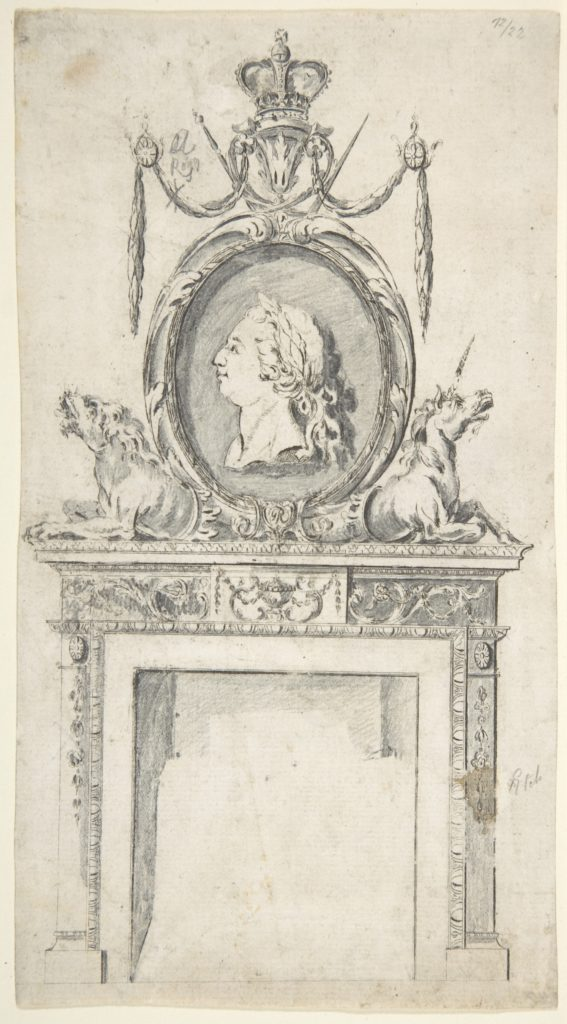 Design for a Chimneypiece, Incorporating a Portrait of George III