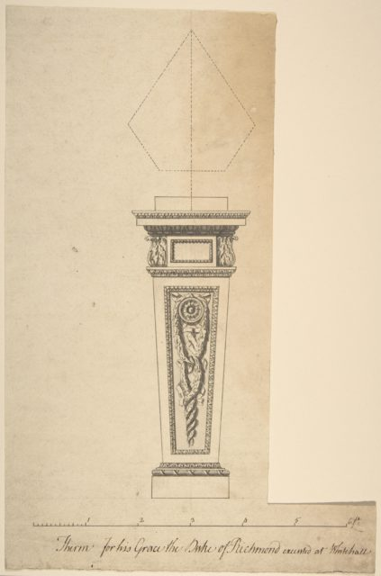 Design for a Pedestal, for Richmond House, Whitehall, London
