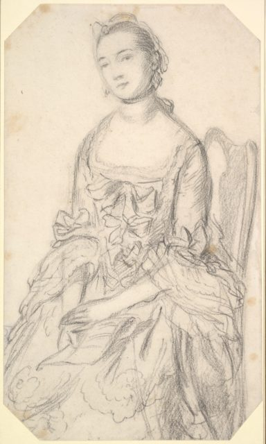 Portrait of a Young Woman Seated