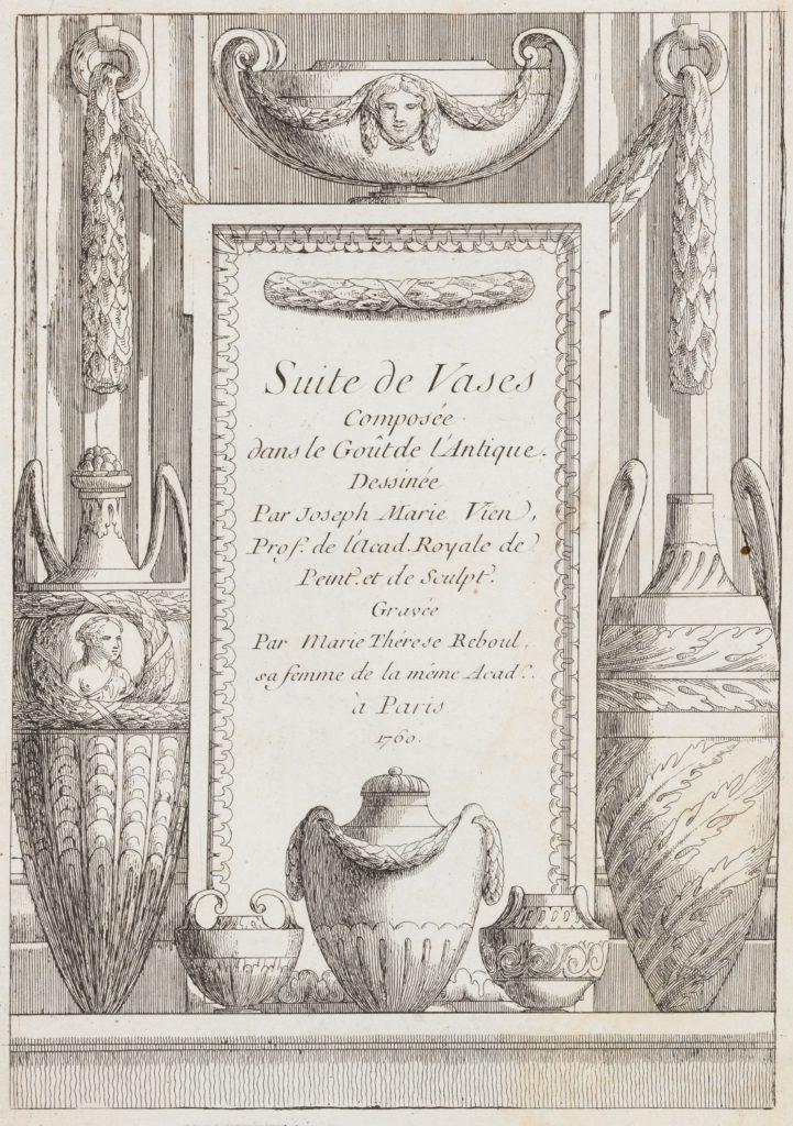 Suite de Vases Composée dans le Goût de l'Antique...