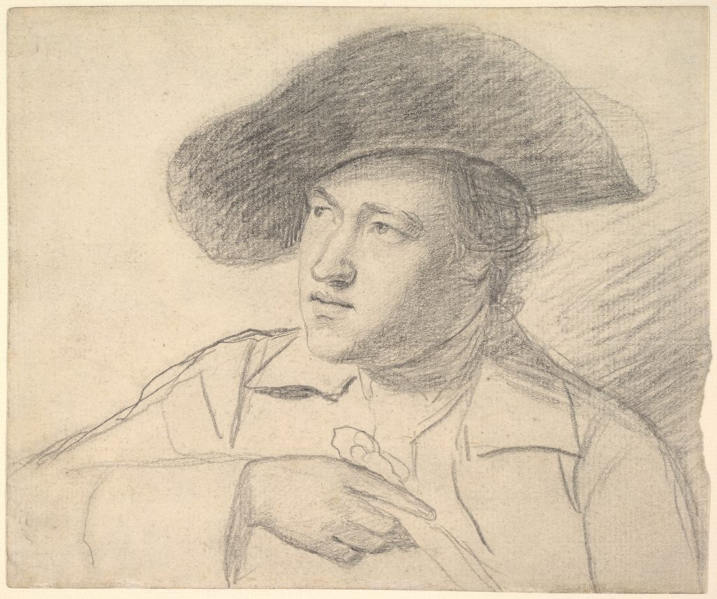 The Rev. William Atkinson, Wearing a Broad-Brimmed Hat