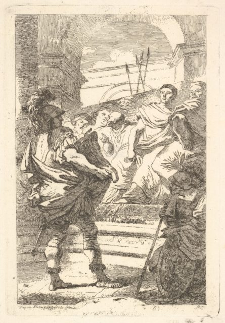 Fabius Maximus before the Senate at Carthage