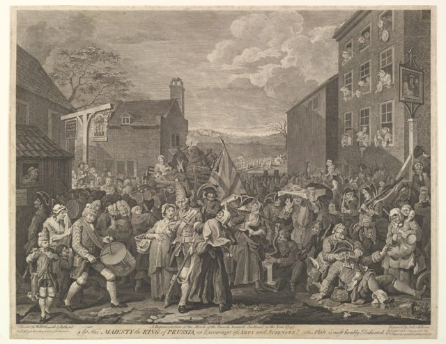 The March to Finchley--A Representation of the March of the Guards towards Scotland in the Year 1745