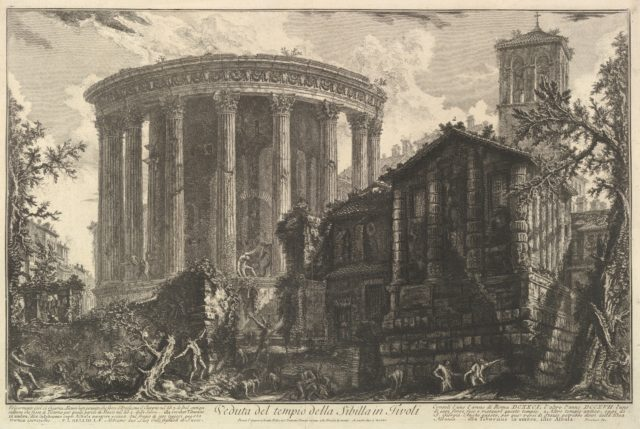 View of the Temple of the Temple of the Sibyl at Tivoli, from Vedute di Roma (Roman Views)