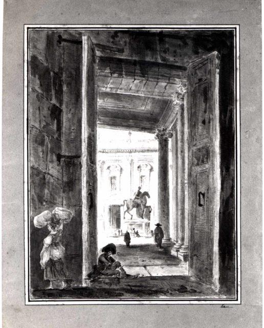 View of the Campidoglio with the Statue of Marcus Aurelius