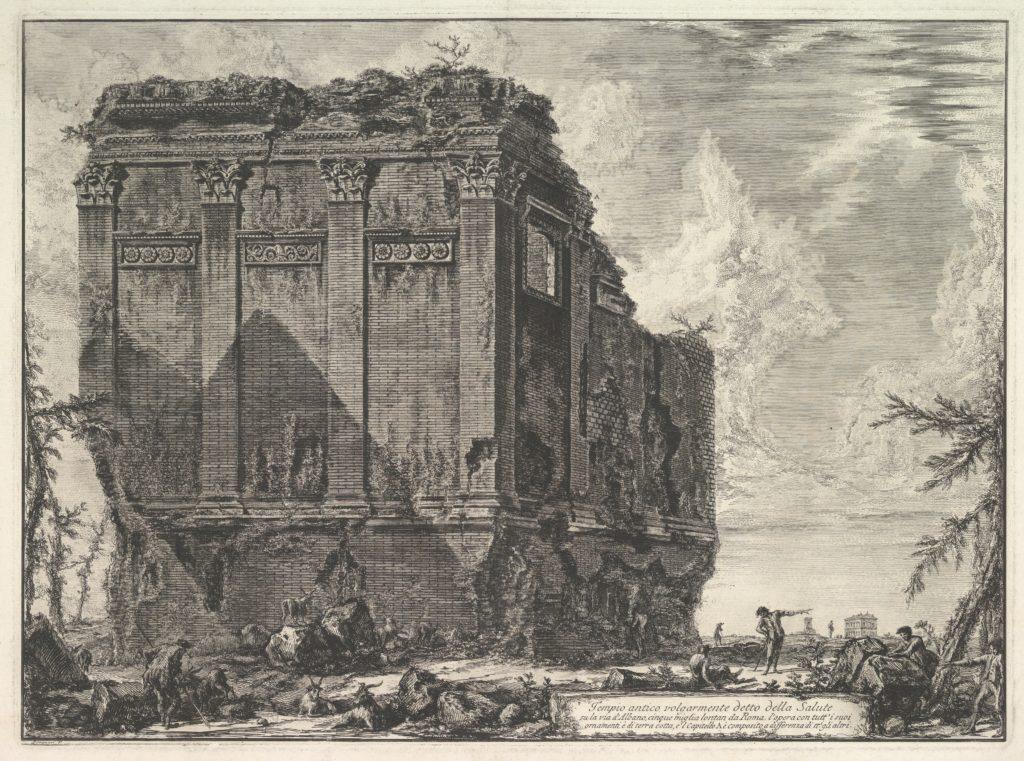 The so-called Temple of Salus, on the road to Albano (Tempio antico volgarmente detto della Salute)