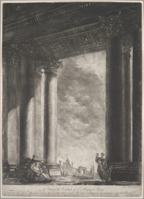 A View of the Vestibule of Santa Maria Maggiore at Rome