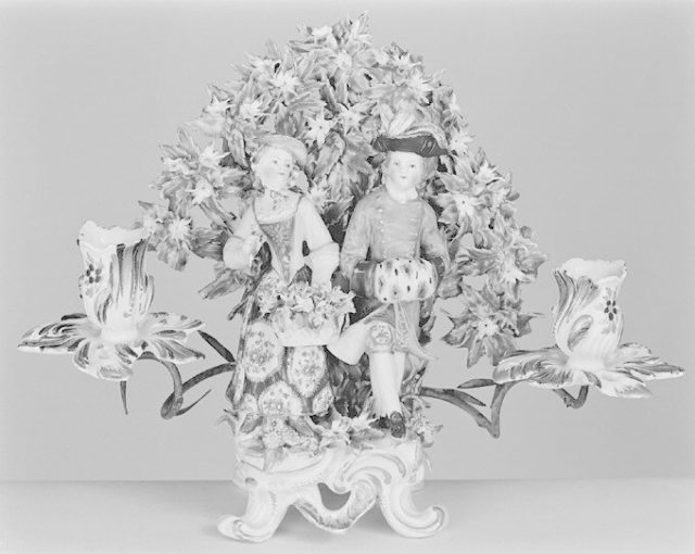 Candelabrum with figures of Spring and Winter (one of a pair)