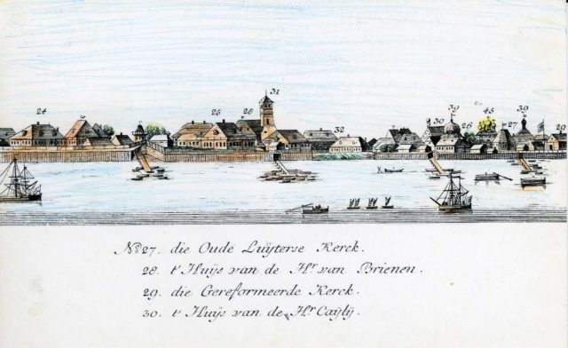 27-30. Arkhangelsk on the Dutch engraving of 1765