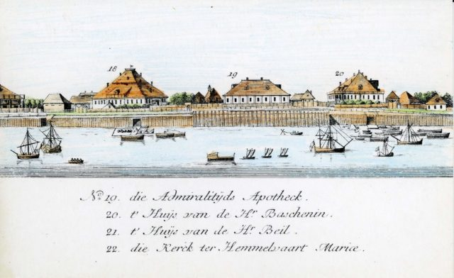 19-22. Arkhangelsk on the Dutch engraving of 1765