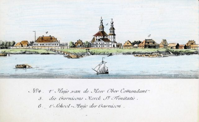4-6. Arkhangelsk on the Dutch engraving of 1765