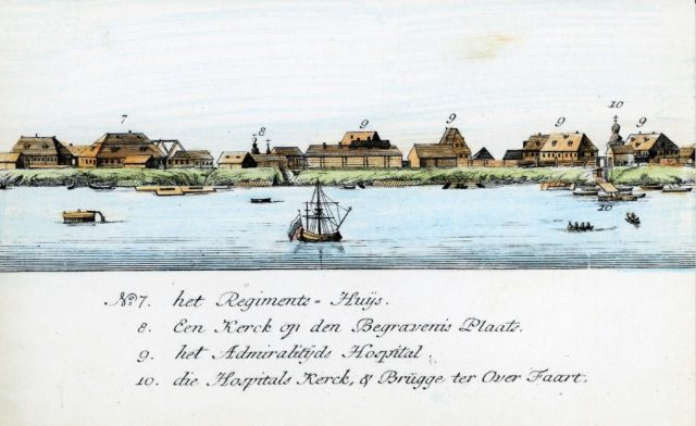 7-10. Arkhangelsk on the Dutch engraving of 1765