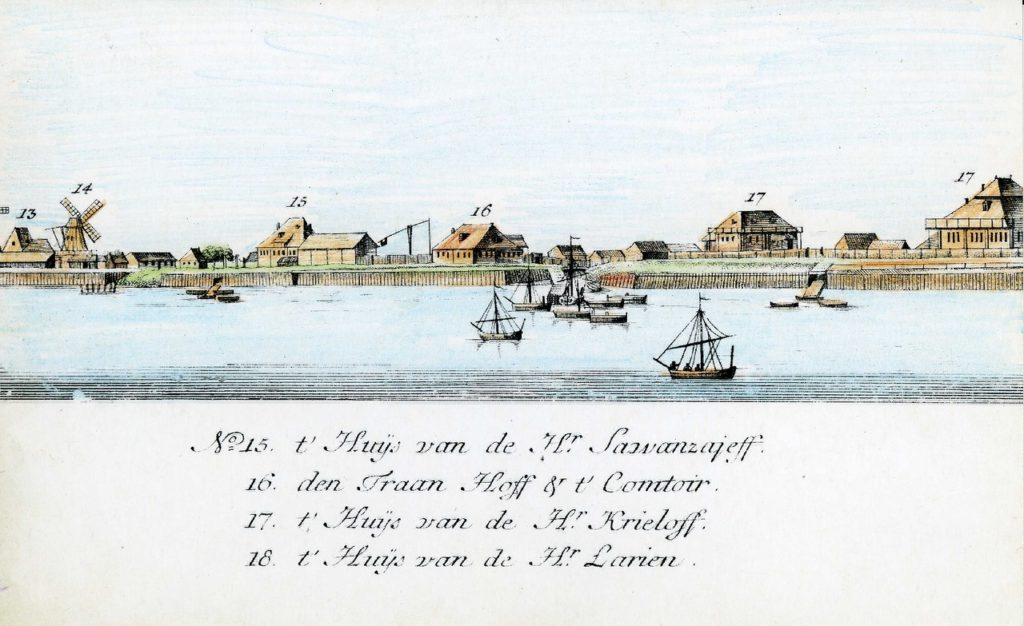 15-18. Arkhangelsk on the Dutch engraving of 1765
