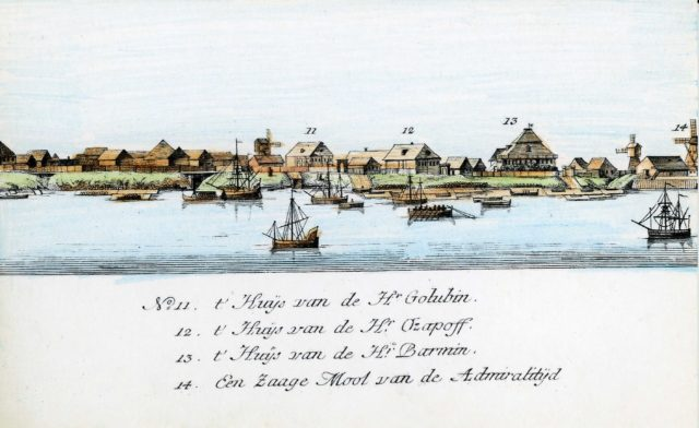 11-14. Arkhangelsk on the Dutch engraving of 1765