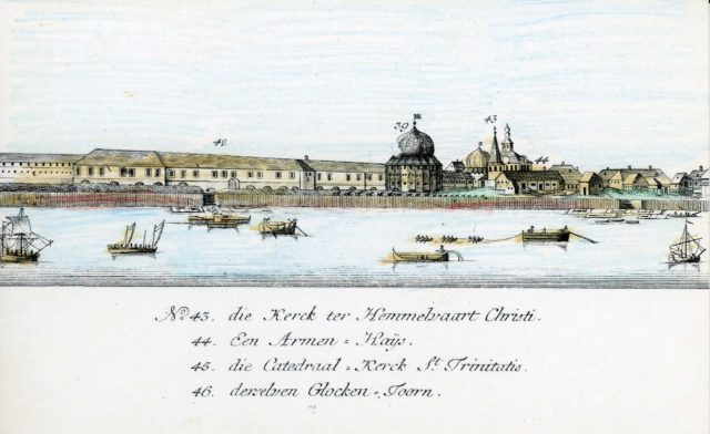 43-46. Arkhangelsk on the Dutch engraving of 1765