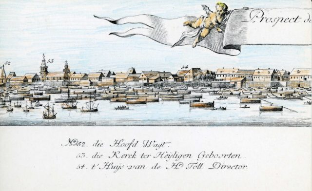 52-54. Arkhangelsk on the Dutch engraving of 1765