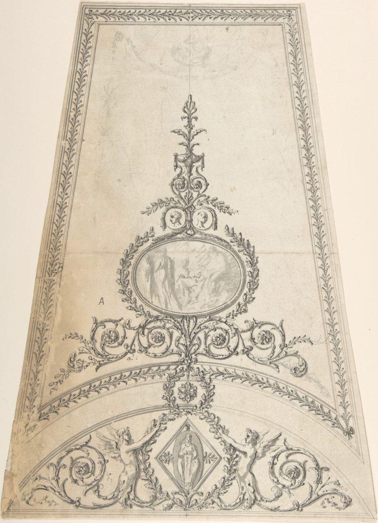 Design for Segment of an Octagonal Ceiling; Gower House, Whitehall, London