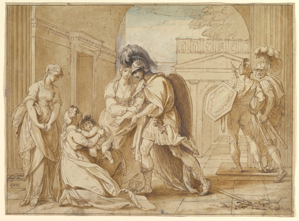 Hector taking leave of Andromache: the Fright of Astyanax