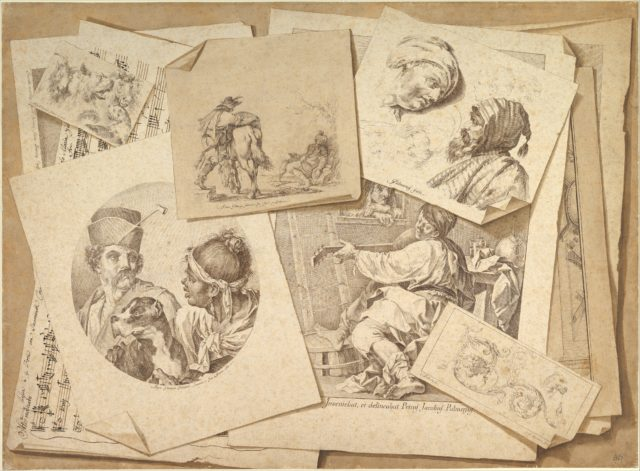 Trompe-l'Oeil Exercise: Prints on a Table Top