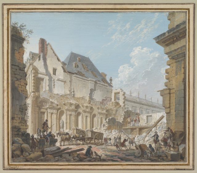 Demolition of the Old Vestibule of the Palais-Royal, Paris