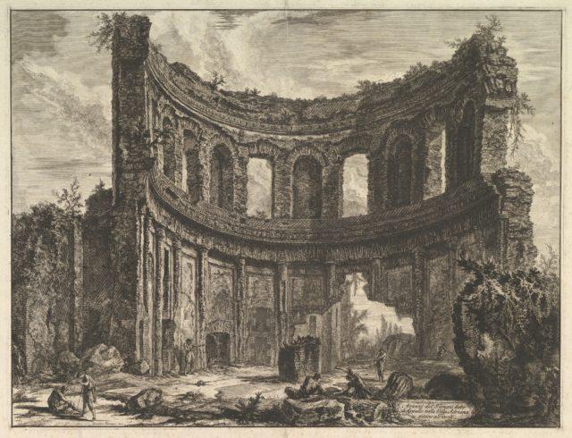 Avanzi del Tempio detto di Apollo nella Villa Adriana vicino a Tivoli (Hadrian's Villa. Remains of the Smaller Palace [Formerly called the Temple of Apollo])