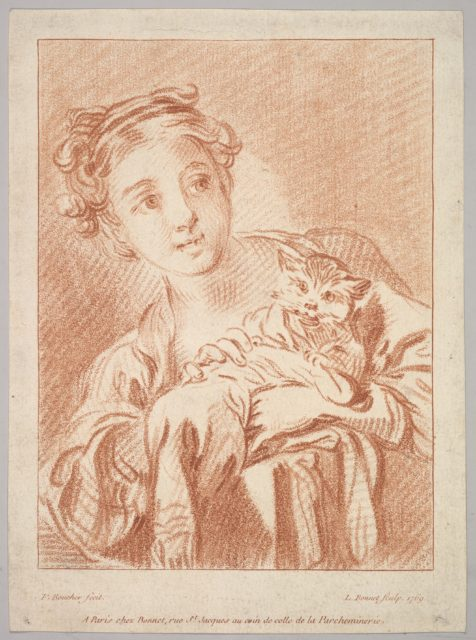A Young Girl holding a Cat