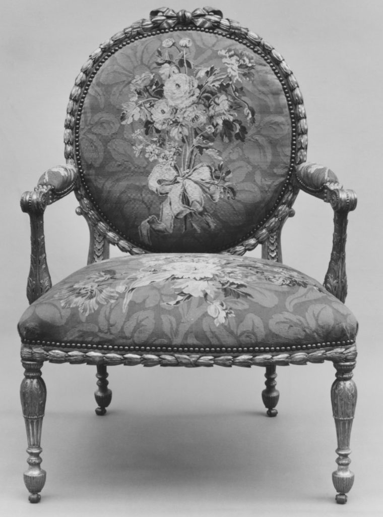 Armchair (one of a set of six)