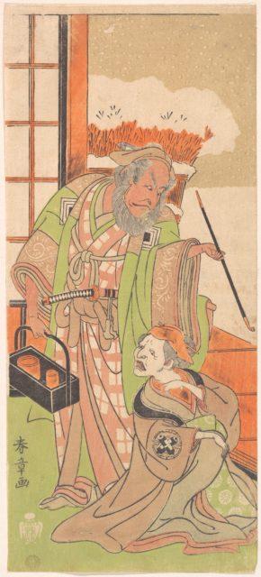 """Scene From the Second Act of the Drama """"Kawaranu Hana Sakae Hachinoki"""""""
