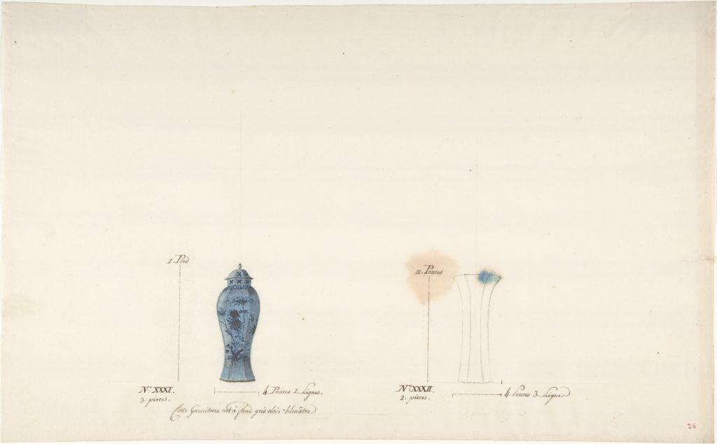 Design for Two Vases