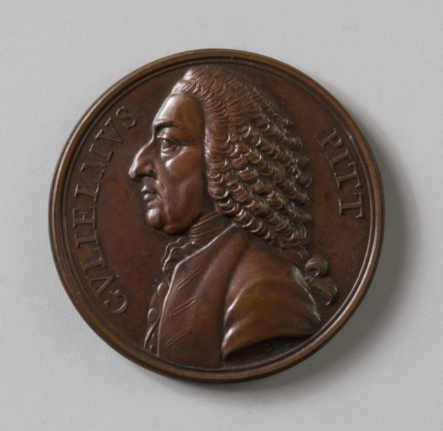 Medal Commemorating the Opposition of William Pitt to the Colonial Policy