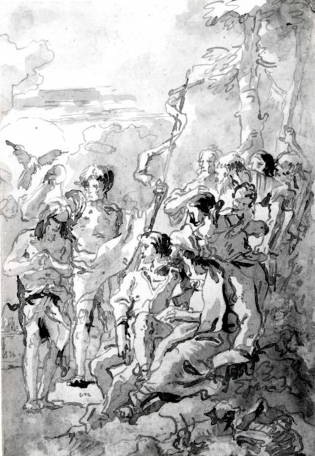The Baptism of Christ (with a Woman Holding a Child Among the Spectators at the Right)
