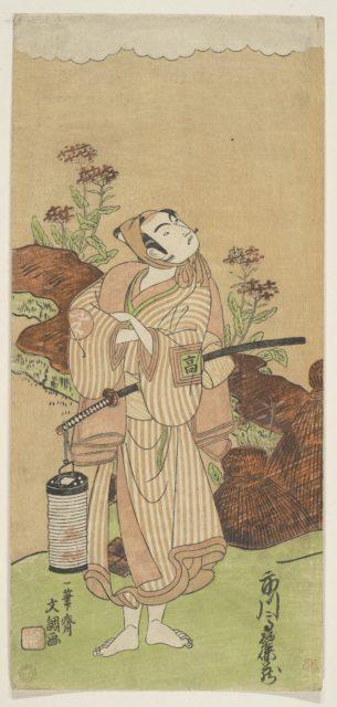 The First Ichikawa Komazo (who in 1772 became the fourth Matsumoto Koshiro) in the Role of Yoemon