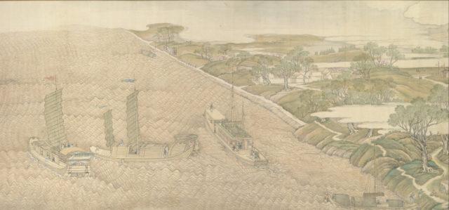 The Qianlong Emperor's Southern Inspection Tour, Scroll Four: The Confluence of the Huai and Yellow Rivers (Qianlong nanxun, juan si: Huang Huai jiaoliu)