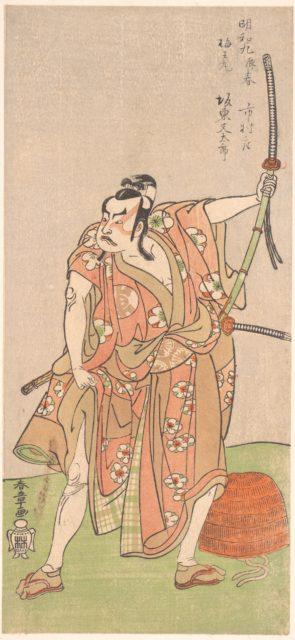 "Bando Matataro as Umewomaru in the Drama ""Sugewara denju tenarai Kagami"""