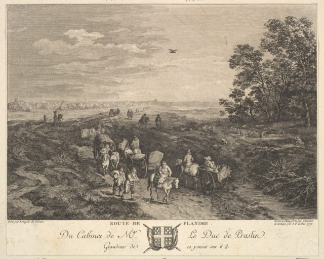 Flanders Road (Route de Flandre) after a painting in the collection of the Duc de Praslin